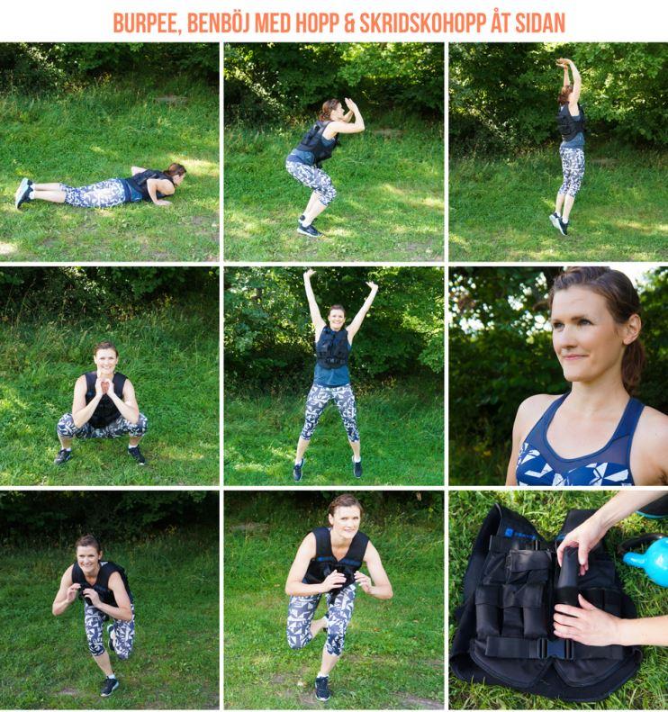 övningar med viktväst