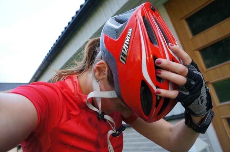röda cykelkläder