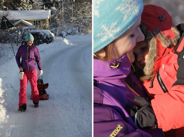 vinterlek barn snö