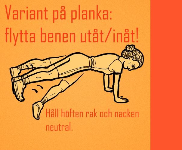 variant plankan övning