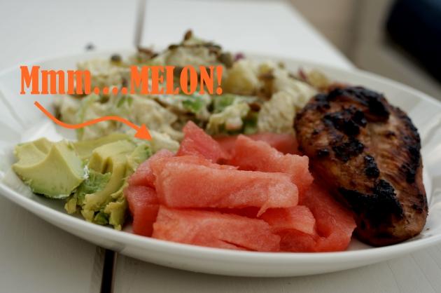 melon till grillat
