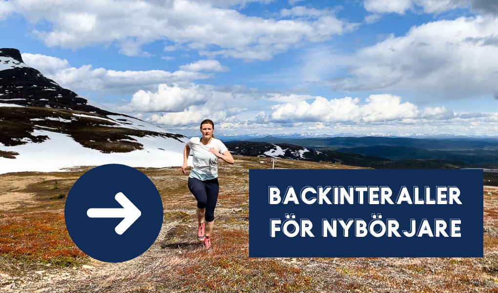 backintervaller for nyborjare