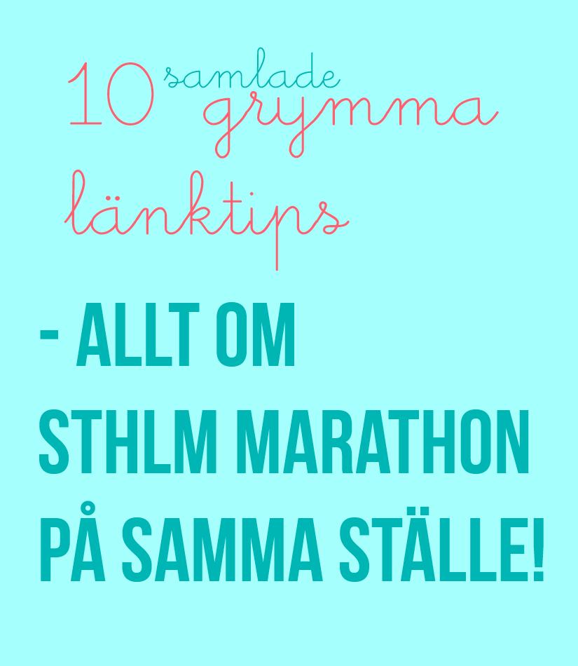 Tips inför stockholm marathon. Utrustnng, mental träning, mat.