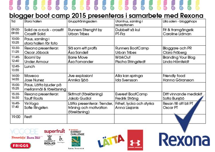 Schema Blogger Boot Camp 752x533 31 tips för träning i vardagen!