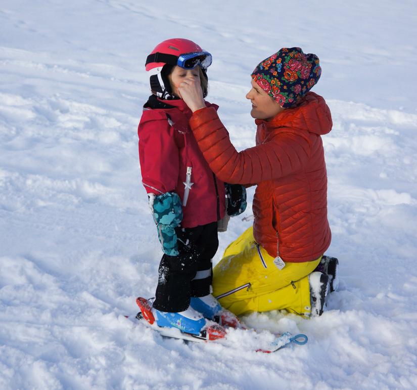 lära barn åka skidor, sofias skidskola