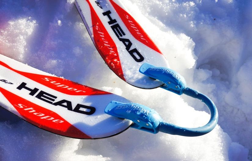 lära barn att åka skidor