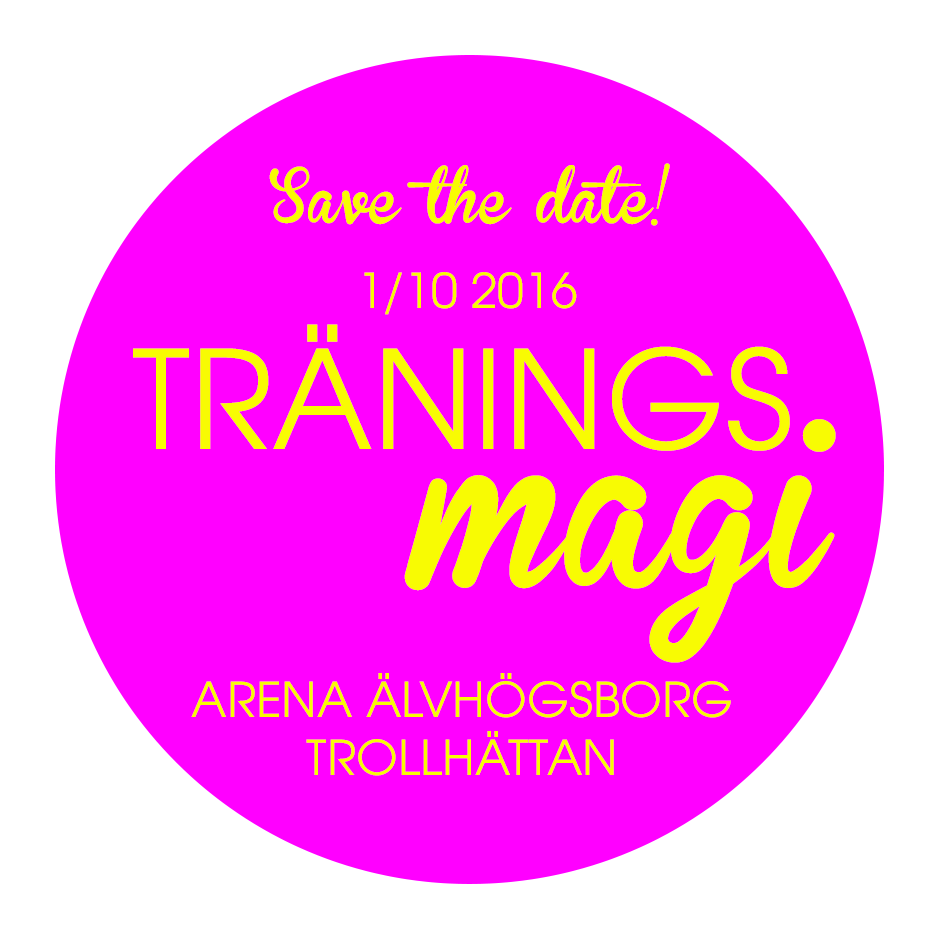 Träningsmagi save the date