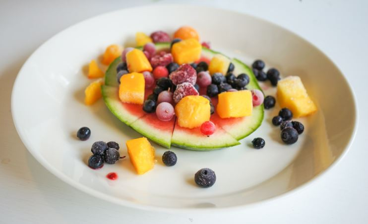 fruktsallad på nytt sätt