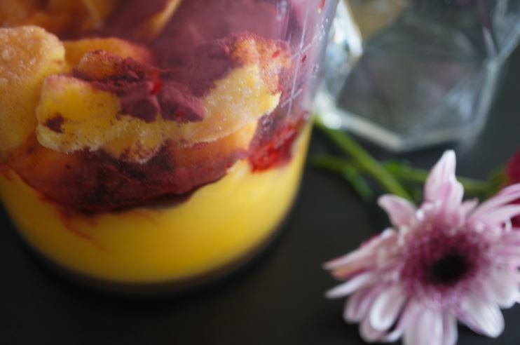 smoothie med rödbetspulver