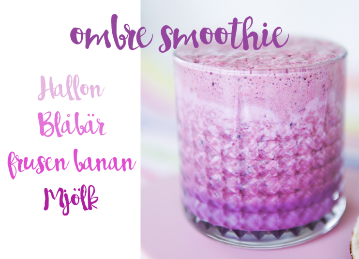 ombre smoothie