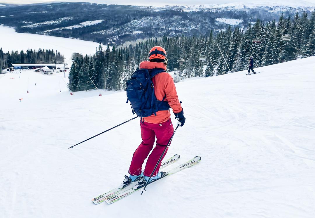 ryggsack skidakning dam