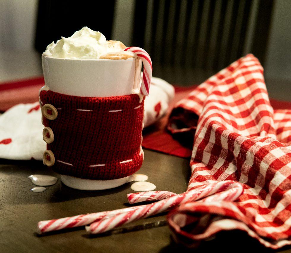 varm choklad med polka